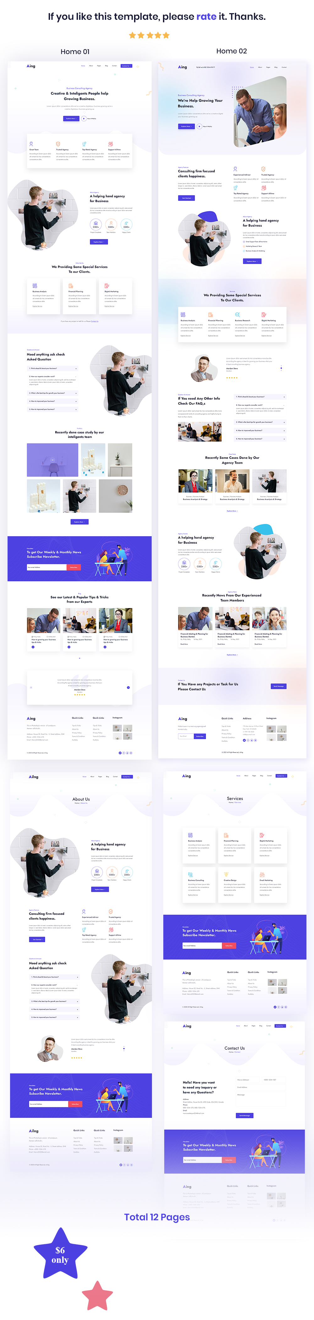 Ailng - Creative Consulting & Business Agency HTML Template - 1